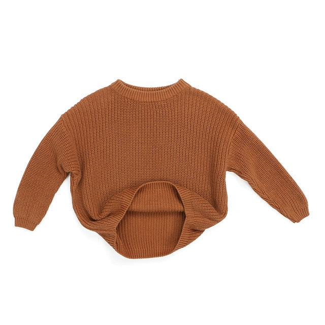 Cuddly Knit Sweater | Rust