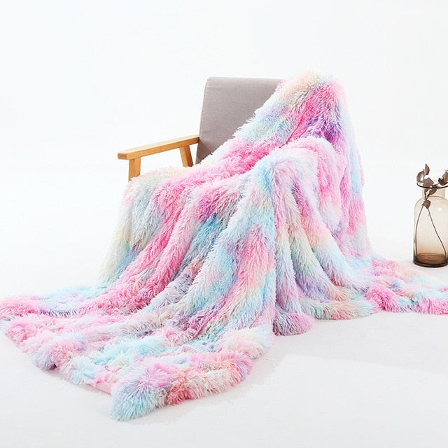 Unicorn Fluffy Blanket (Bed Cover)