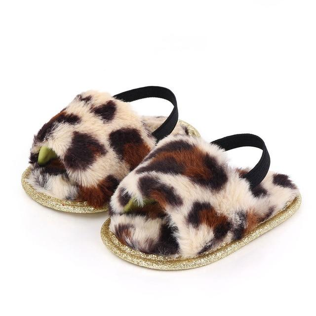 Fluffy Slides | Leopard