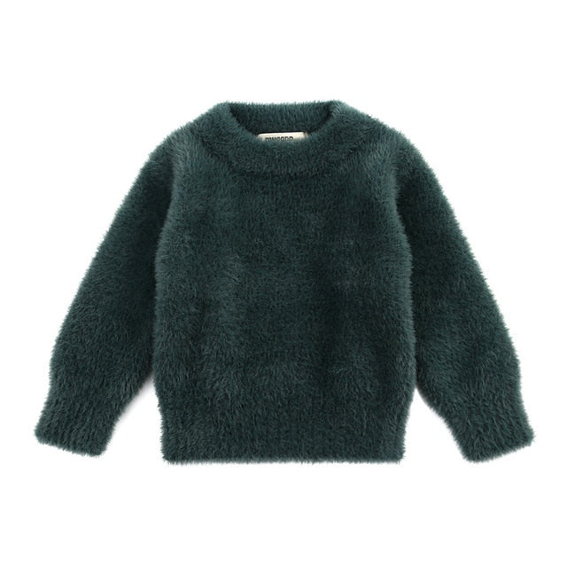 Faux Mohair Cuddly Jumper | Deep Green