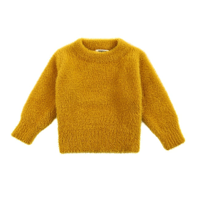 Faux Mohair Cuddly Jumper | Mustard