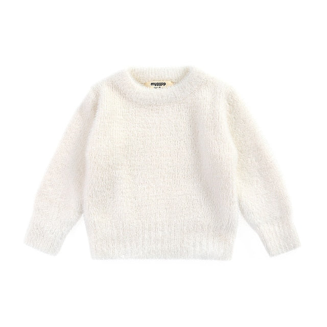 Faux Mohair Cuddly Jumper | White