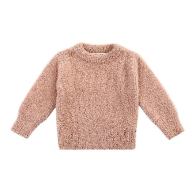 Faux Mohair Cuddly Jumper | Soft Pink