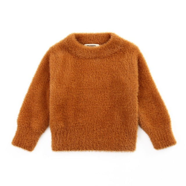 Faux Mohair Cuddly Jumper | Teddy Brown