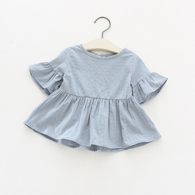 Juliette Peplum Top | Blue