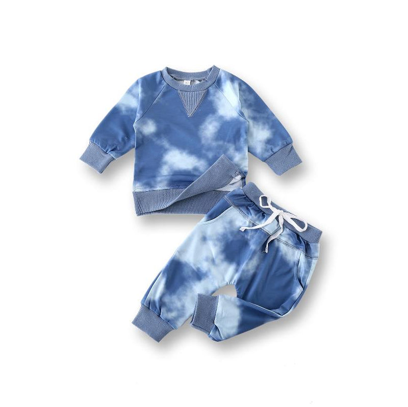 Tie Dye Tracksuits | Blue