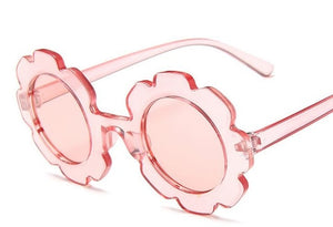 Flower Sunglasses | Clear Pink