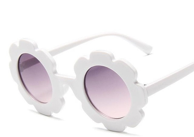 Flower Sunglasses | White