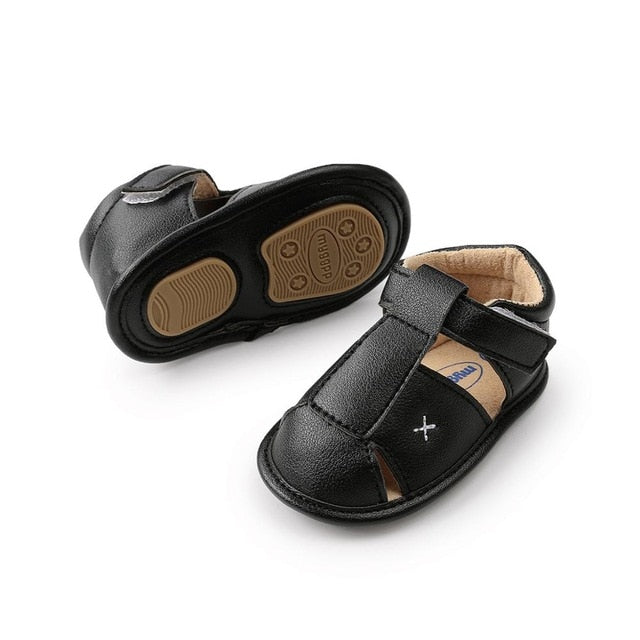 Cross Summer Sandals | Black