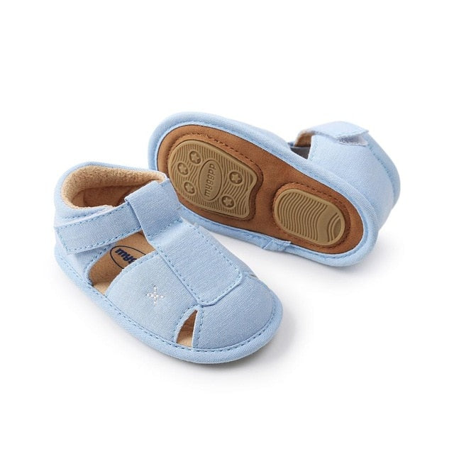 Cross Summer Sandals | Blue
