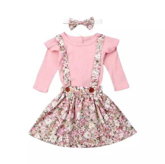 Belle Floral Pinafore Set
