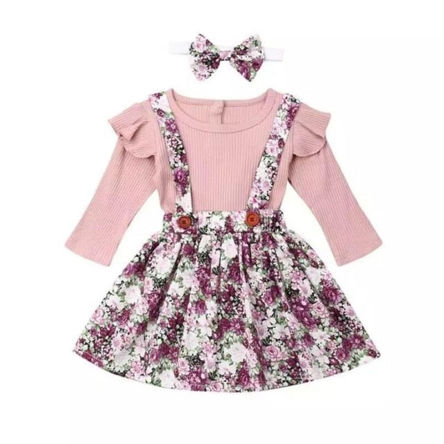Evie Floral Pinafore Set