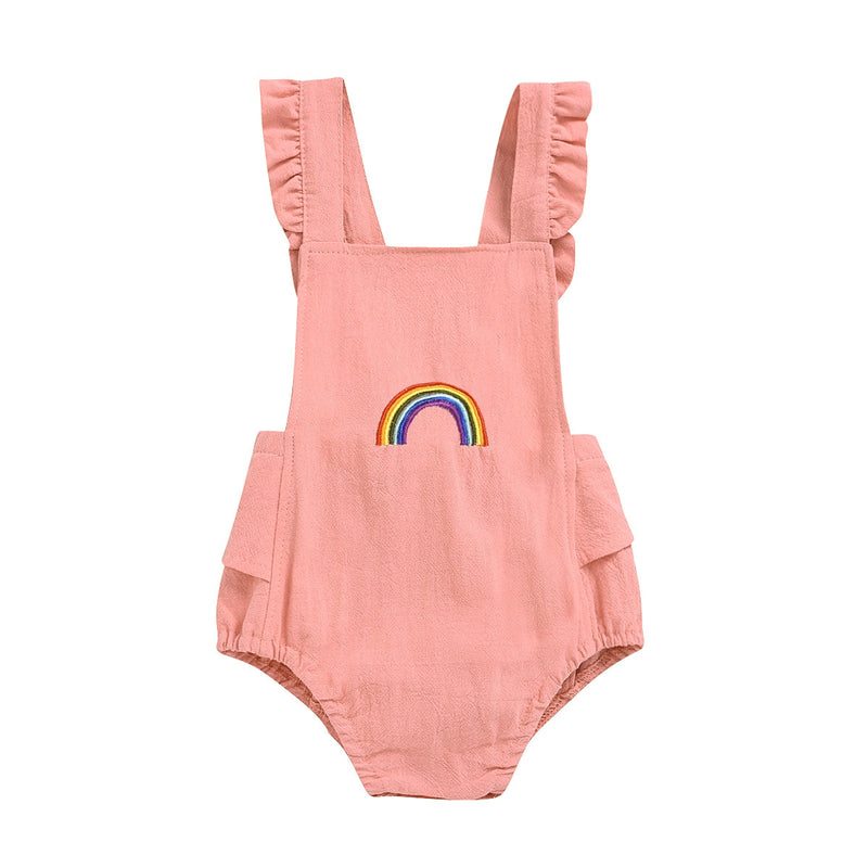Rainbow Romper | Peach