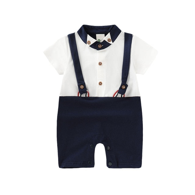 Gentleman Party Romper | Navy