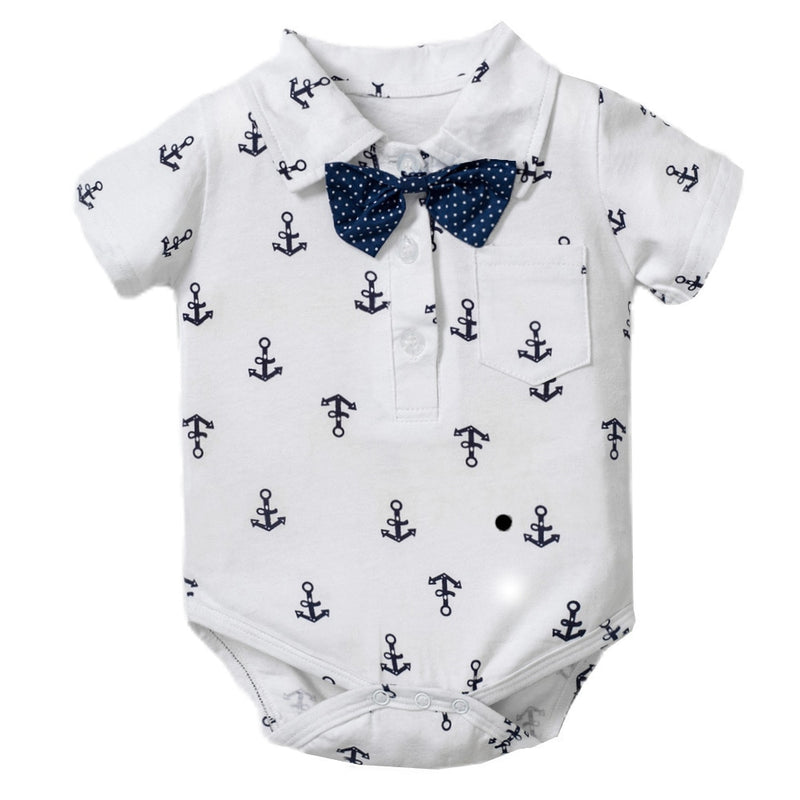 Anchor Bowtie Bodysuit | Blue