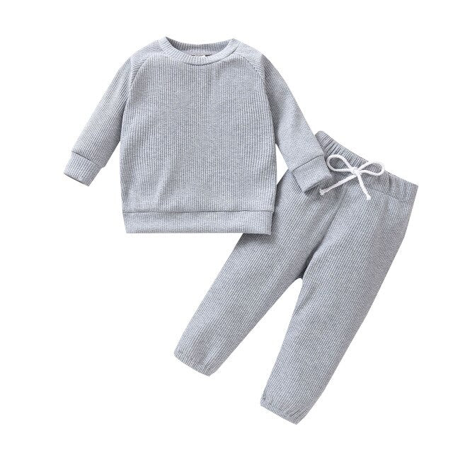 Ribbed Set | Grey