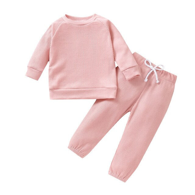 Ribbed Set | Pink