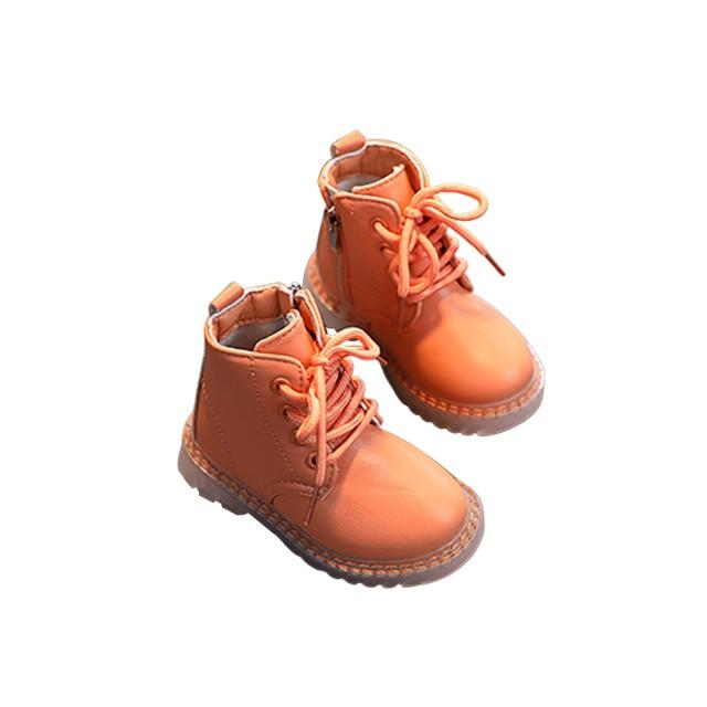 Winter Side Zip Boots | Orange