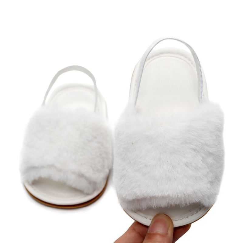 Fluffy Slides | White