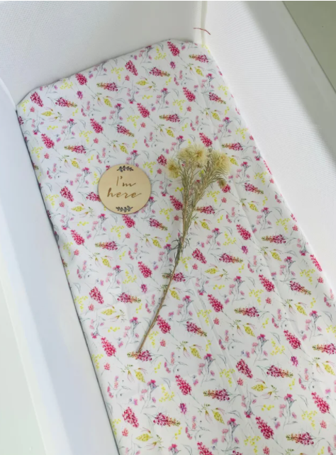 Olive June and Co - Fitted Bassinet Sheet | Australiana Garden