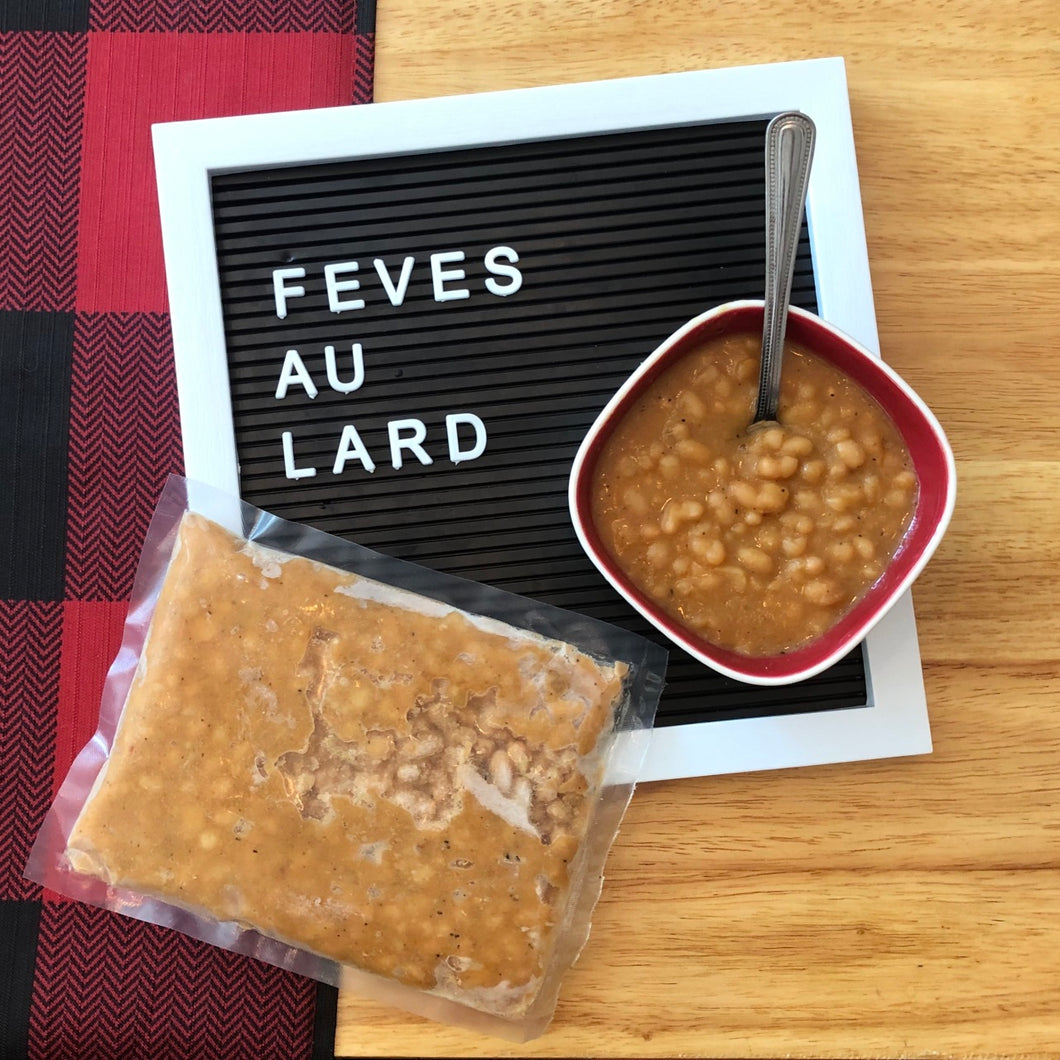 Fèves au lard (2 portions)