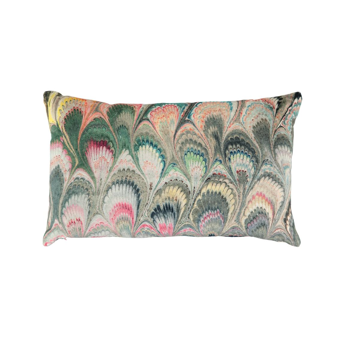 Marbleized Velvet Cushion