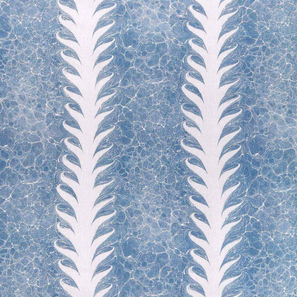 Palm Drop Linen: Sky Blue/Plaster