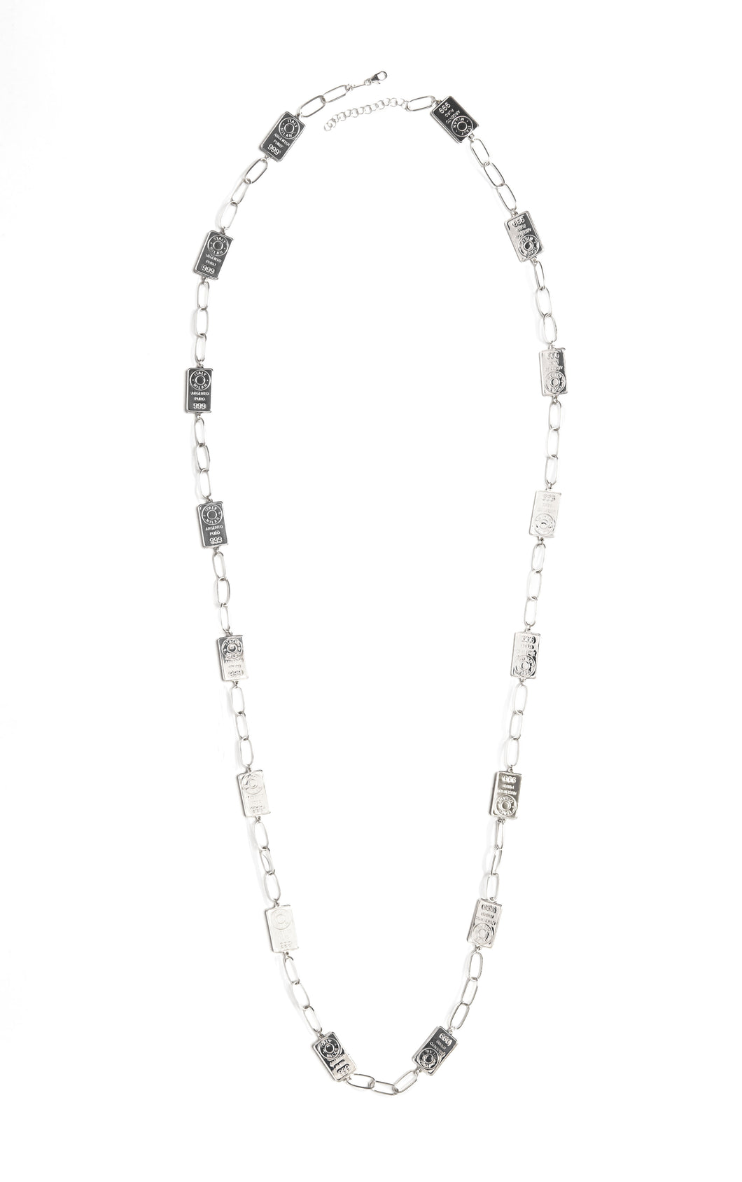 Chain Long silver necklace
