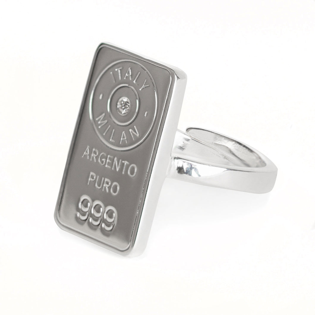 Luce Silver ring