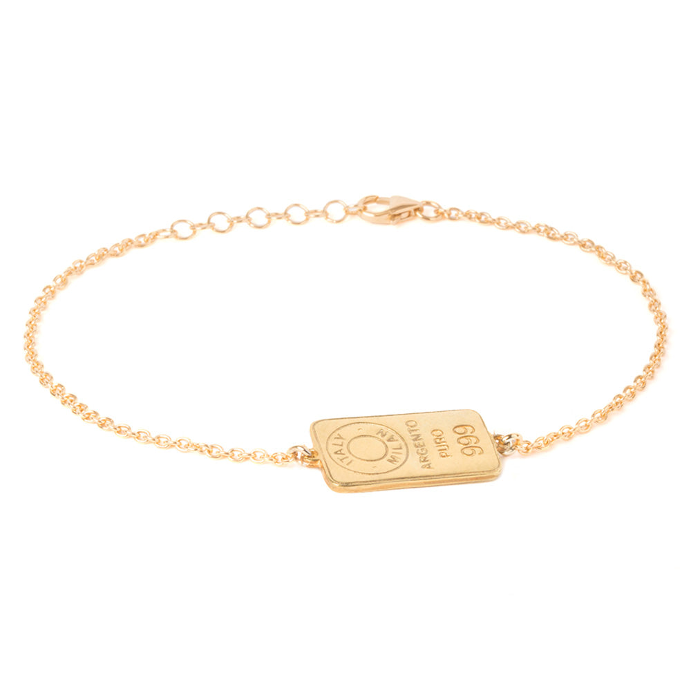 Gold plated silver men's chain bracelet