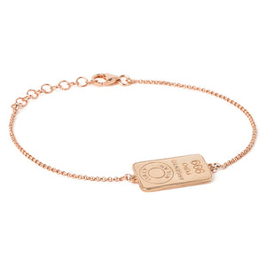 Gold plated silver woman chain bracelet