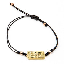 Load image into Gallery viewer, Women's macramé gold plated silver bracelet