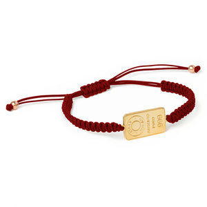 Men's macramé silver gold plated bracelet