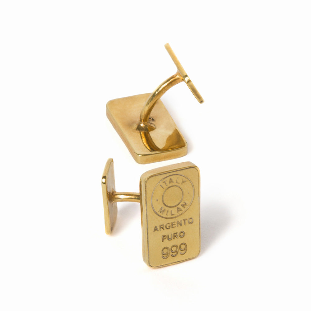 Gold-plated silver cufflinks