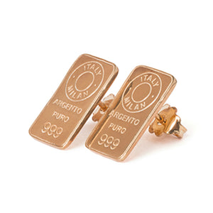 Gold-plated silver ear lobe earrings