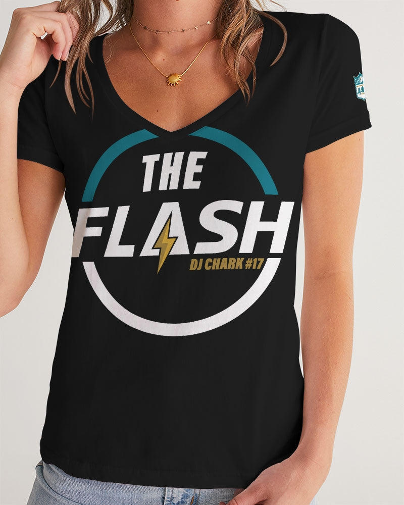 The Flash - DJ Chark Women's V-Neck Tee