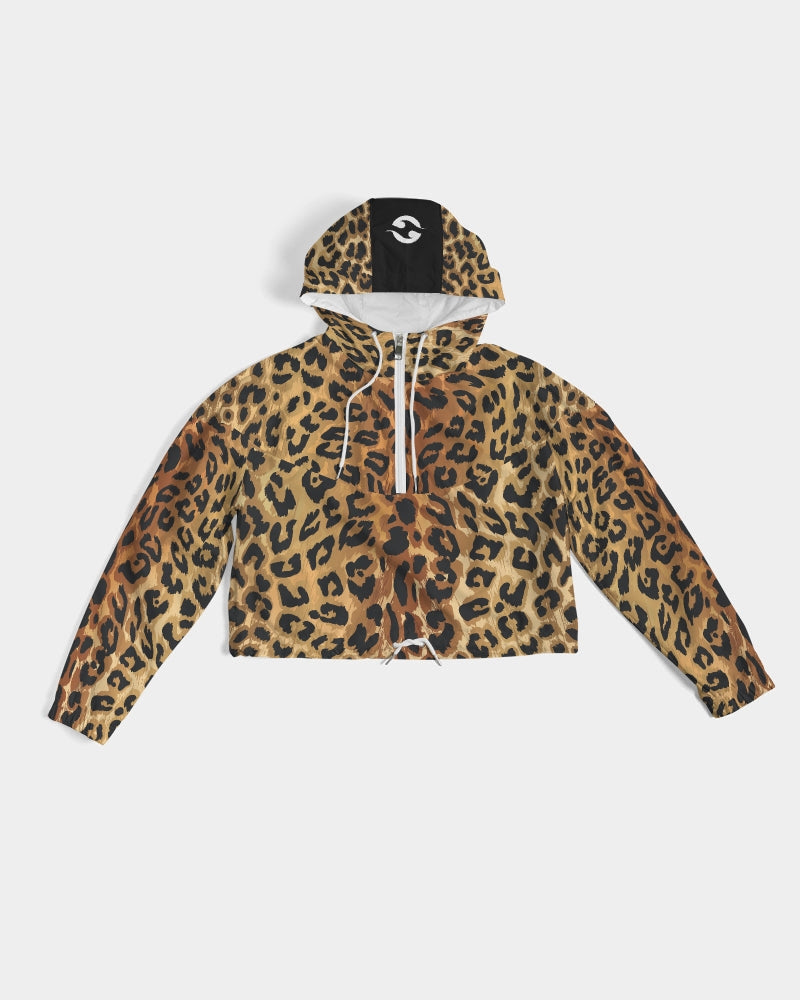 Jags Print Women's Cropped Windbreaker