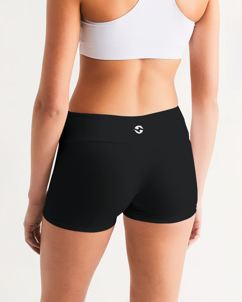 Pure Fitness Women's Mid-Rise Yoga Shorts