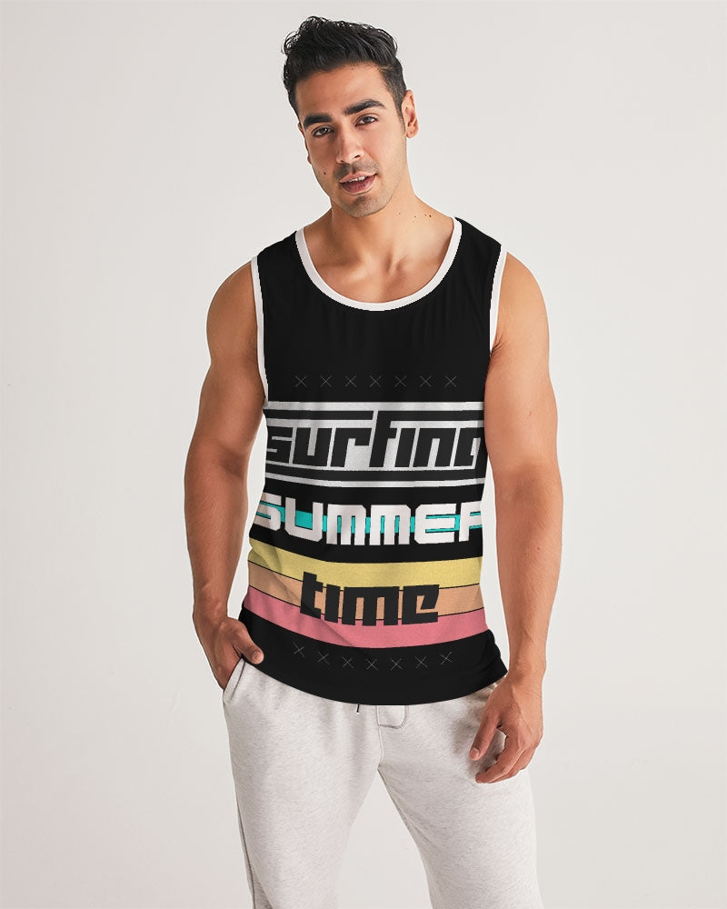 Surfing Summer Time Men's Sports Tank