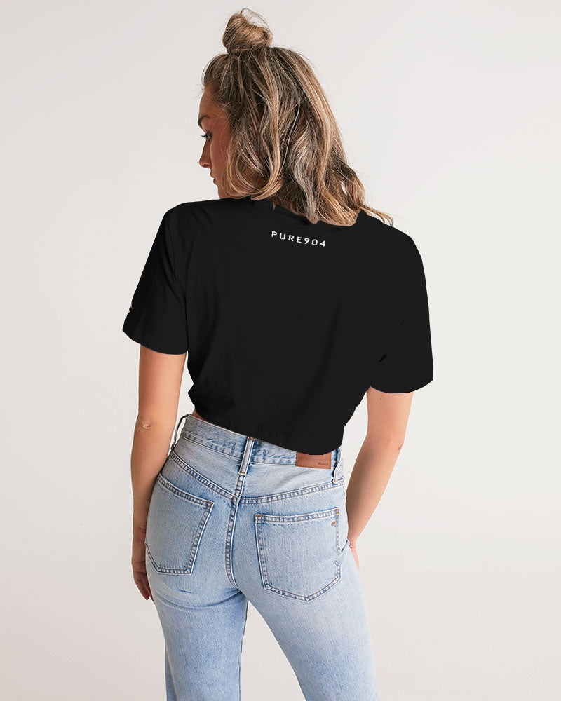 Pink Palm Limited Original Women's Twist-Front Cropped Tee