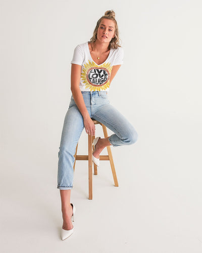Live-Love-Laugh Women's V-Neck Tee