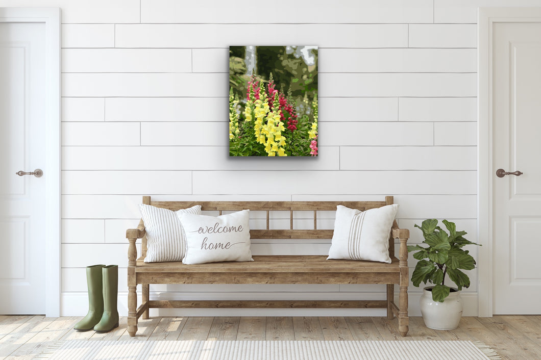 Oh Snap! Snapdragons- Paint by Number Kit
