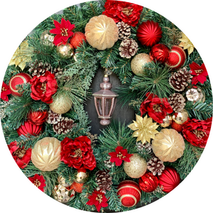 Warm Wishes Wreath Round Paint by Number Kit
