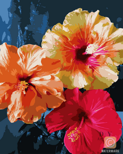 Aloha Hibiscus Paint by Number