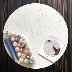 Precious Peony Round Paint by Number Kit