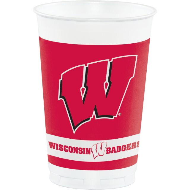 University of Wisconsin Plastic Cups, 20 Oz - Pack of 96 Count