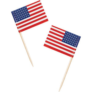 "Picks, Flag 2.5"", U.S. - Pack of 600 Count"