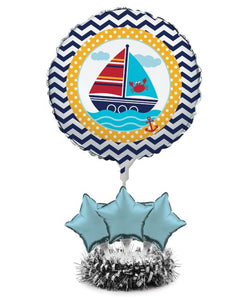 Ahoy Matey! Air Filled Balloon Centerpiece Kit - Pack of 4 Count