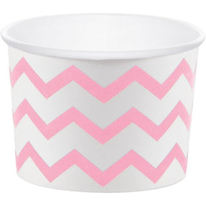 Treat Cups, Chevron Stripe, Classic Pink - Pack of 72 Count