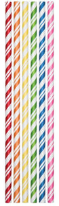Straws Assorted Colors Striped Paper - Pack of 144 Count